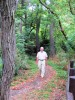 walking in woods near Queenstown, Ontario