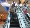 riding the escalator