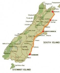 Blenheim to Dunedin