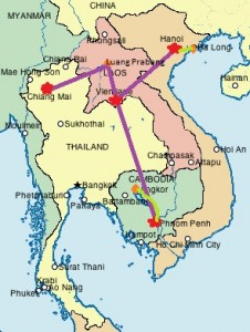 ThailandVietnamLaosandCambodia map