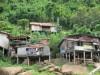 village on shore