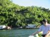 homes beside/in lake
